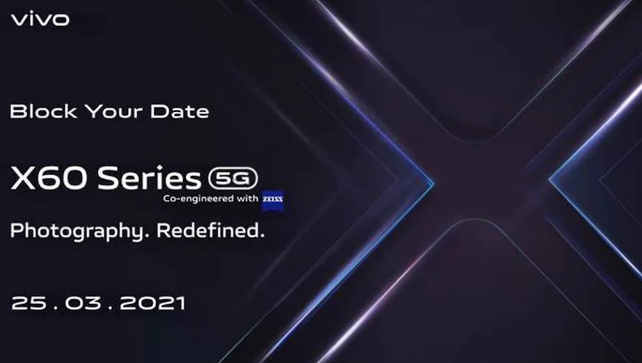 Vivo X60 series India Launch on March 25