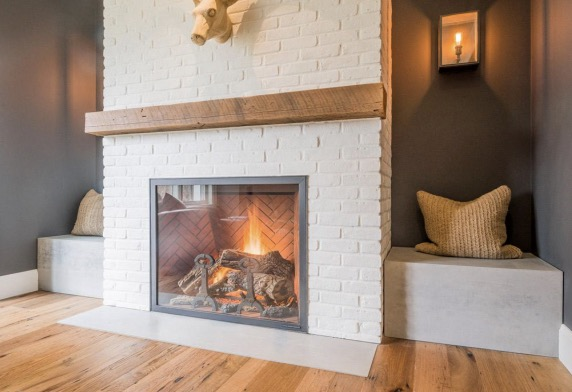 glassdoors for fireplace