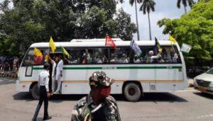 Farmers protesting against Parliament Laws At Delhi