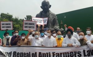 Rahul Gandhi protest over three farm laws