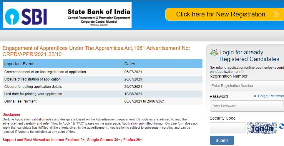 SBI Apprentice Recruitment 2021: Link to apply for 6100 posts at sbi.co.in